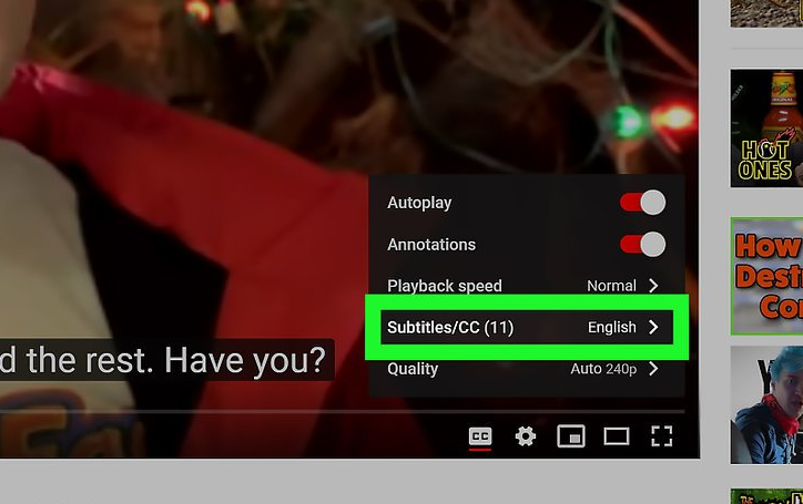 How to turn on subtitles on YouTube on your phone