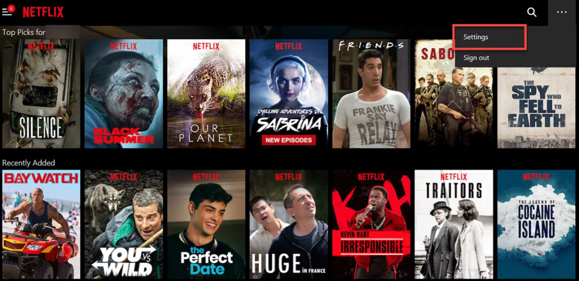 How to clear your viewing history in Netflix