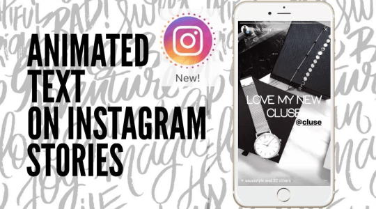 How to get animated text on Instagram