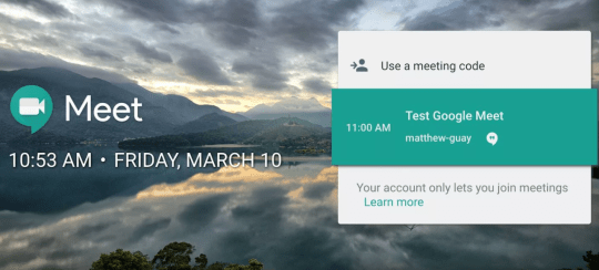 How to get the meeting code for Google Meet