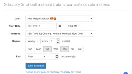 How to schedule an email in Gmail.
