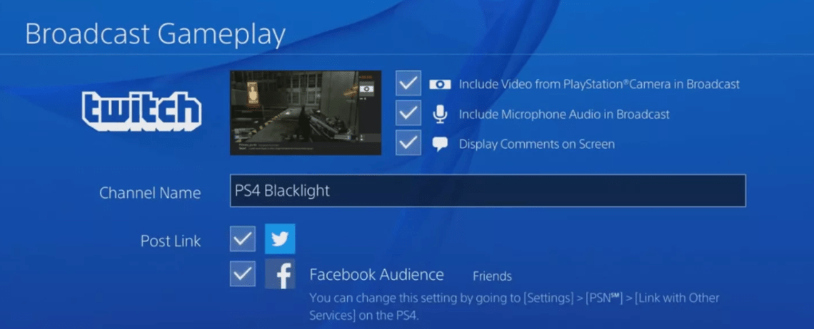 How to Use Twitch with PS4